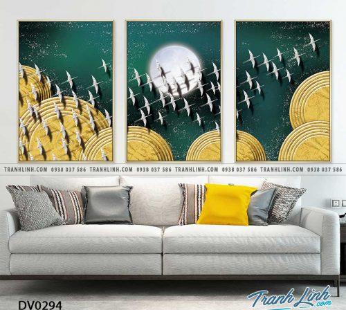 Tranh canvas treo tuong trang tri phong khach phong canh truu tuong 190