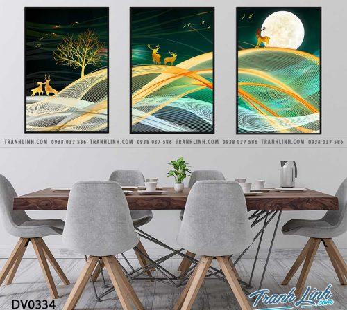 Tranh canvas treo tuong trang tri phong khach phong canh truu tuong 192