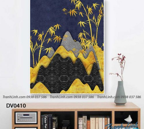 Tranh canvas treo tuong trang tri phong khach phong canh truu tuong 195