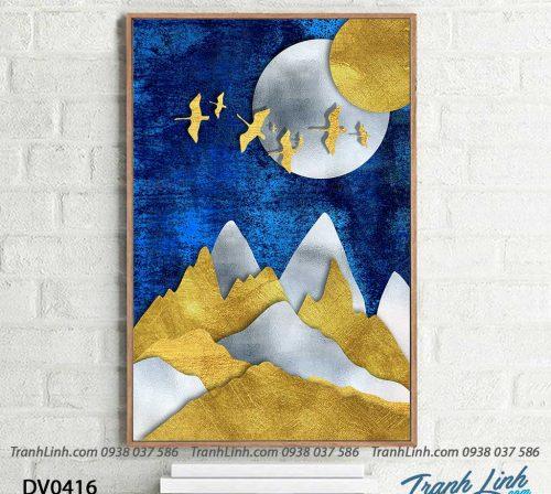 Tranh canvas treo tuong trang tri phong khach phong canh truu tuong 197