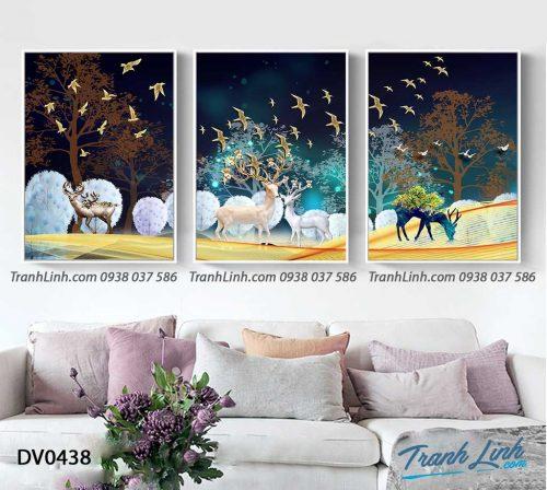 Tranh canvas treo tuong trang tri phong khach phong canh truu tuong 199
