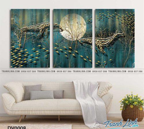 Tranh canvas treo tuong trang tri phong khach phong canh truu tuong 2