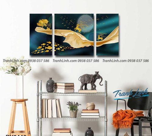 Tranh canvas treo tuong trang tri phong khach phong canh truu tuong 200