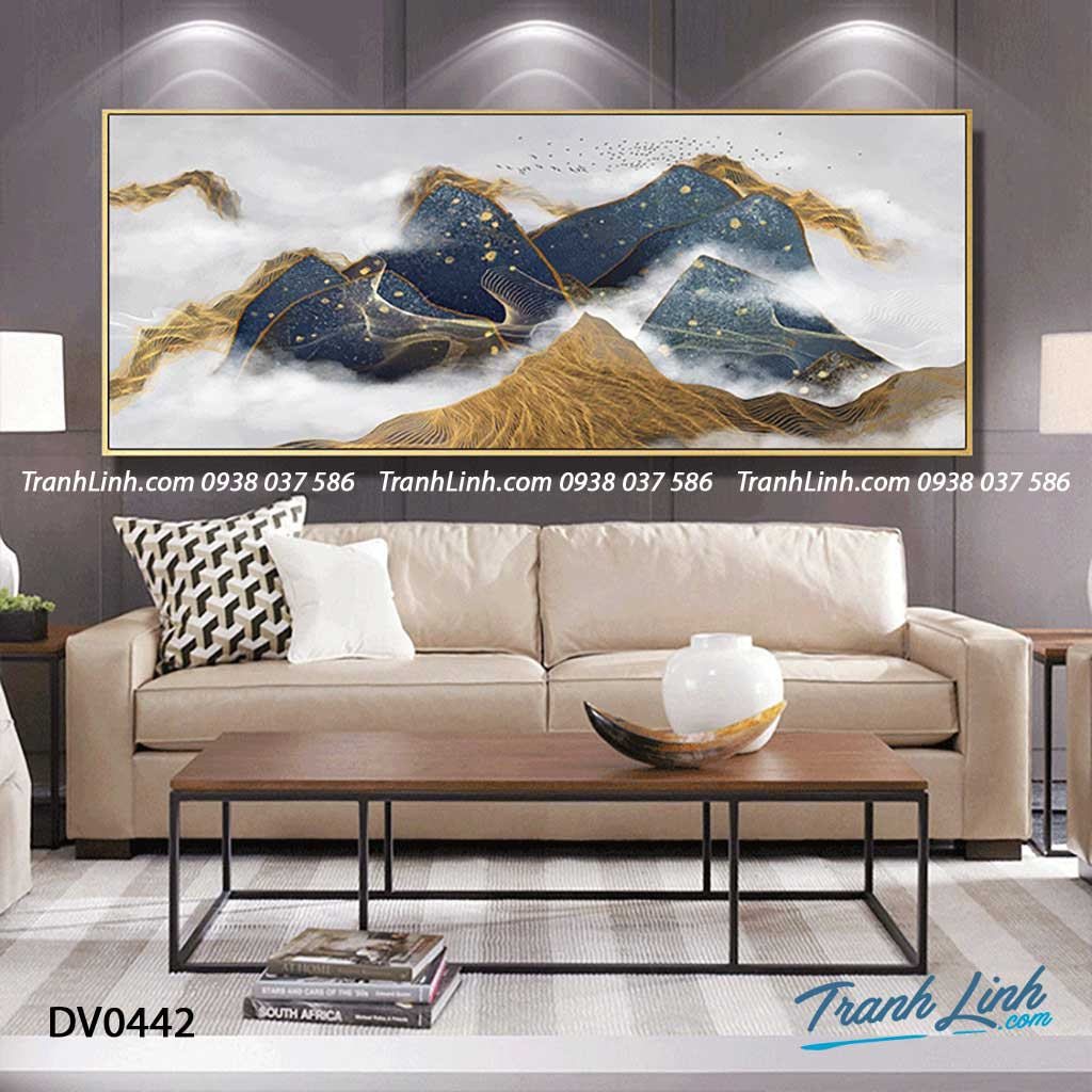 Tranh canvas treo tuong trang tri phong khach phong canh truu tuong 201