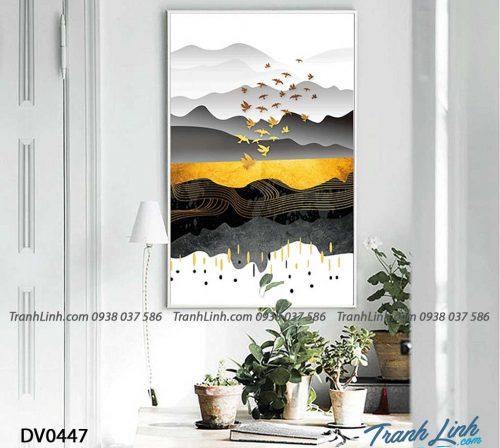 Tranh canvas treo tuong trang tri phong khach phong canh truu tuong 203