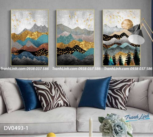 Tranh canvas treo tuong trang tri phong khach phong canh truu tuong 208