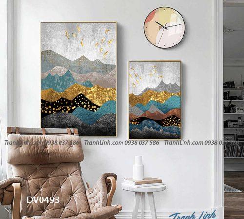 Tranh canvas treo tuong trang tri phong khach phong canh truu tuong 210