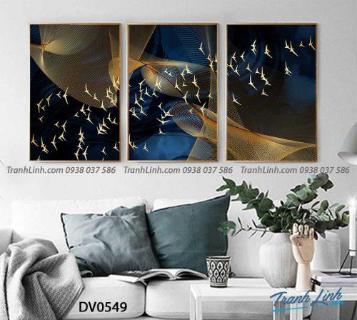 Tranh canvas treo tuong trang tri phong khach phong canh truu tuong 211