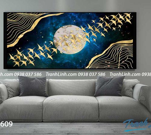 Tranh canvas treo tuong trang tri phong khach phong canh truu tuong 214