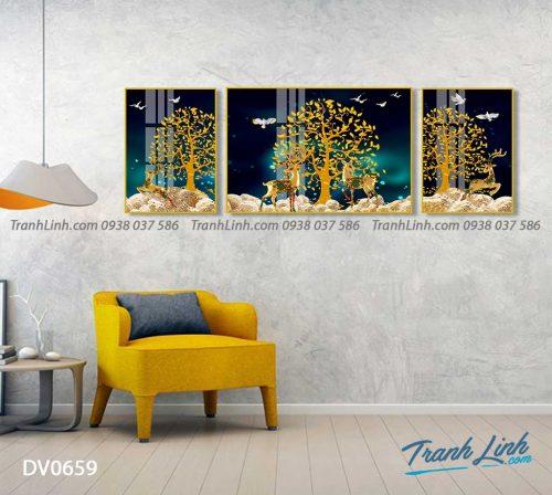 Tranh canvas treo tuong trang tri phong khach phong canh truu tuong 215