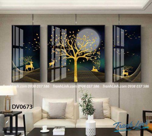 Tranh canvas treo tuong trang tri phong khach phong canh truu tuong 216