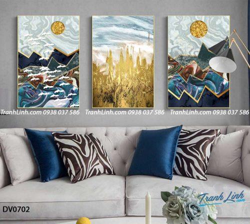 Tranh canvas treo tuong trang tri phong khach phong canh truu tuong 219