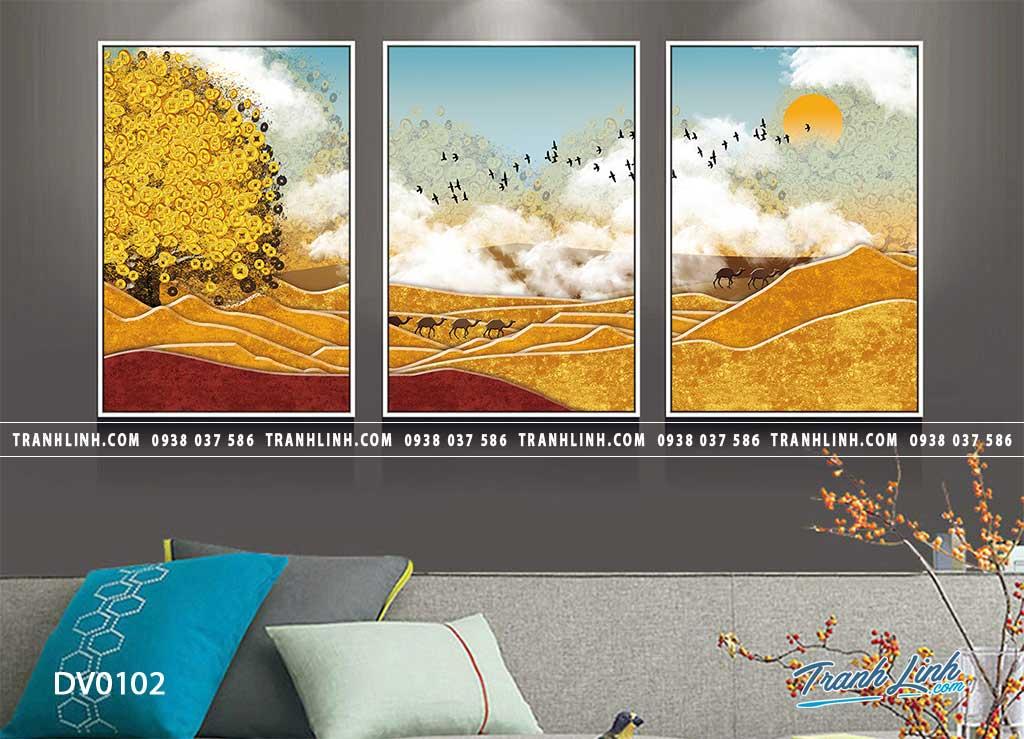 Tranh canvas treo tuong trang tri phong khach phong canh truu tuong 22