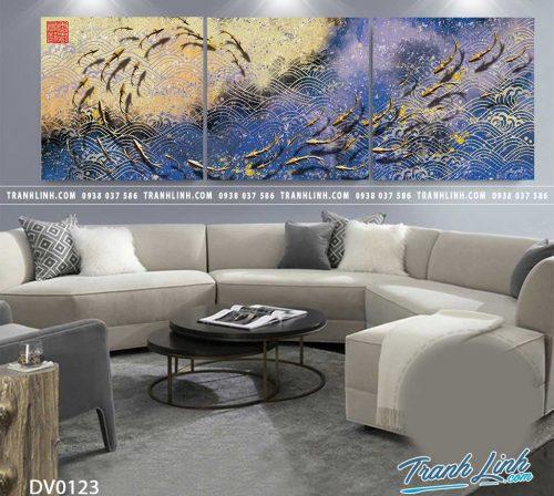 Tranh canvas treo tuong trang tri phong khach phong canh truu tuong 225