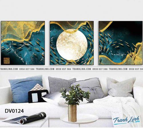 Tranh canvas treo tuong trang tri phong khach phong canh truu tuong 226