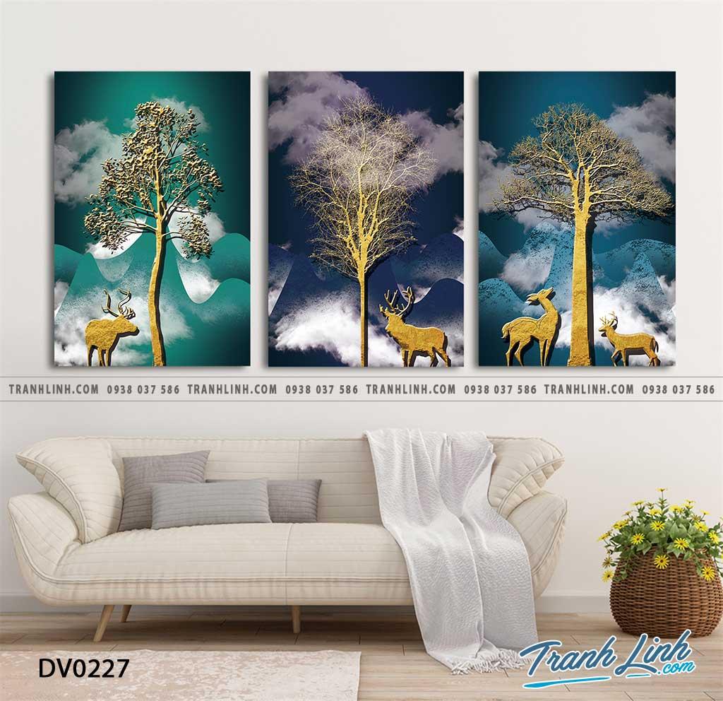 Tranh canvas treo tuong trang tri phong khach phong canh truu tuong 228