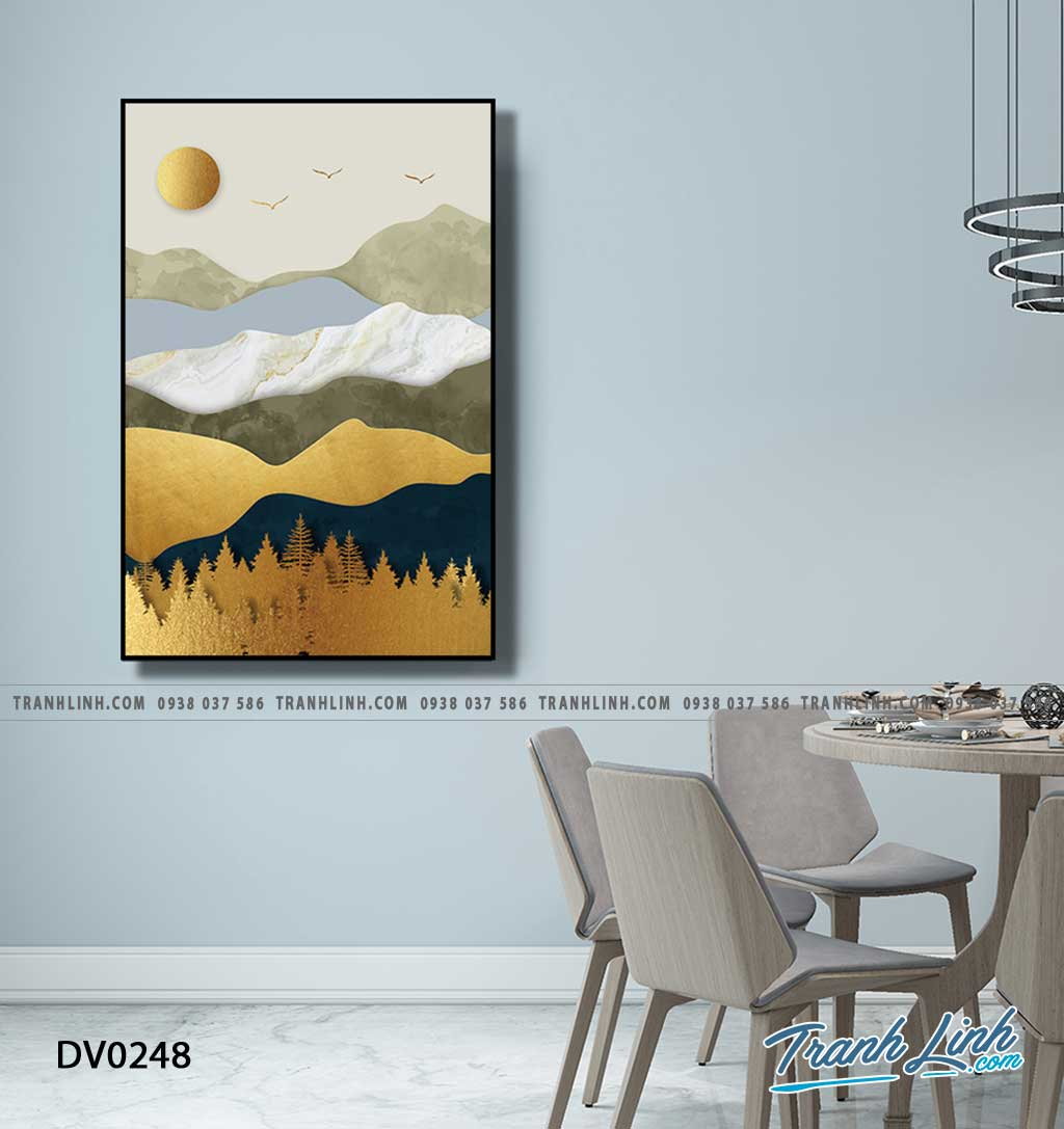 Tranh canvas treo tuong trang tri phong khach phong canh truu tuong 229