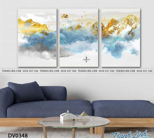 Tranh canvas treo tuong trang tri phong khach phong canh truu tuong 239