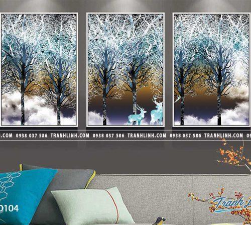 Tranh canvas treo tuong trang tri phong khach phong canh truu tuong 24