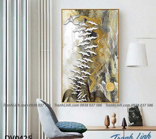 Tranh canvas treo tuong trang tri phong khach phong canh truu tuong 240