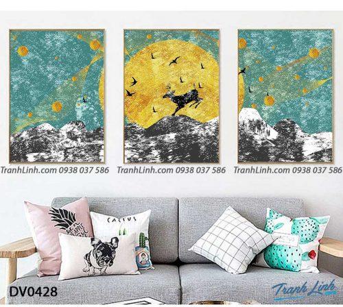 Tranh canvas treo tuong trang tri phong khach phong canh truu tuong 241