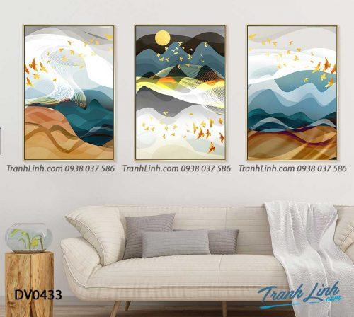 Tranh canvas treo tuong trang tri phong khach phong canh truu tuong 243