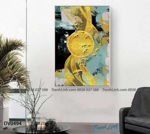 Tranh canvas treo tuong trang tri phong khach phong canh truu tuong 245