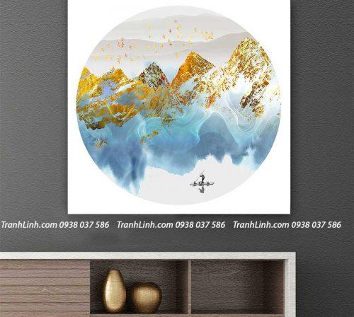 Tranh canvas treo tuong trang tri phong khach phong canh truu tuong 246