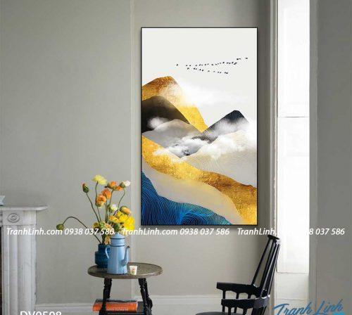 Tranh canvas treo tuong trang tri phong khach phong canh truu tuong 247