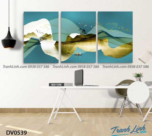 Tranh canvas treo tuong trang tri phong khach phong canh truu tuong 249