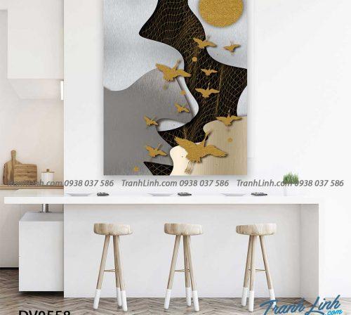 Tranh canvas treo tuong trang tri phong khach phong canh truu tuong 250