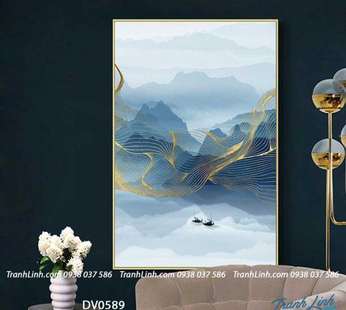 Tranh canvas treo tuong trang tri phong khach phong canh truu tuong 253