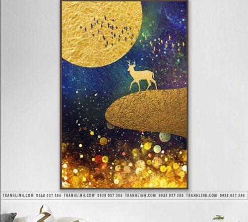 Tranh canvas treo tuong trang tri phong khach phong canh truu tuong 256