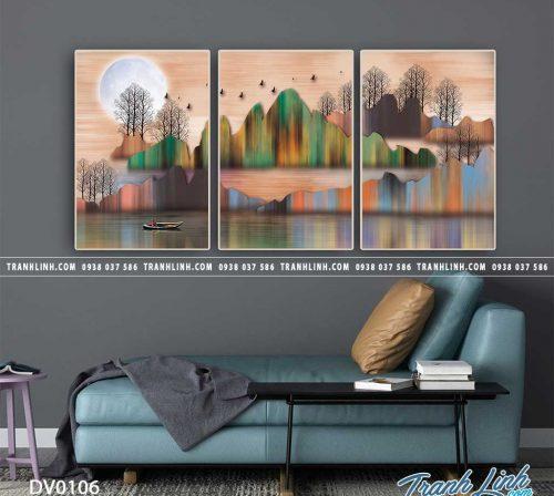 Tranh canvas treo tuong trang tri phong khach phong canh truu tuong 26