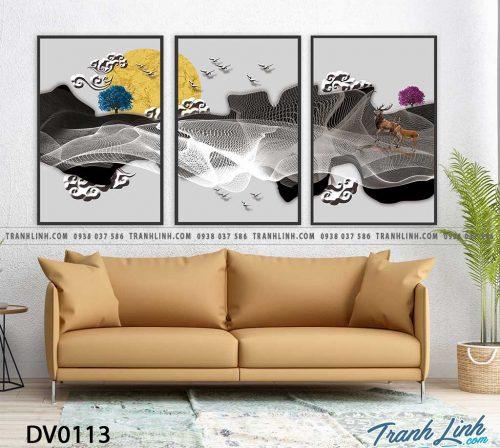 Tranh canvas treo tuong trang tri phong khach phong canh truu tuong 31
