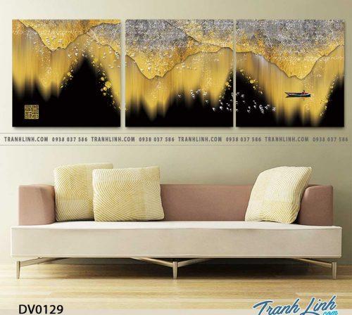 Tranh canvas treo tuong trang tri phong khach phong canh truu tuong 40