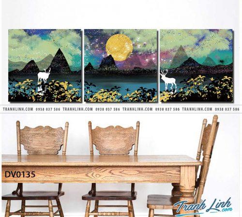 Tranh canvas treo tuong trang tri phong khach phong canh truu tuong 46