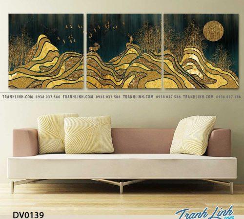 Tranh canvas treo tuong trang tri phong khach phong canh truu tuong 50