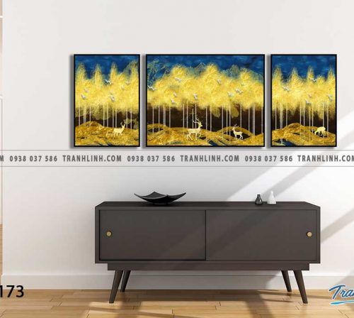 Tranh canvas treo tuong trang tri phong khach phong canh truu tuong 62