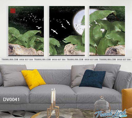 Tranh canvas treo tuong trang tri phong khach phong canh truu tuong 7