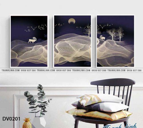 Tranh canvas treo tuong trang tri phong khach phong canh truu tuong 72