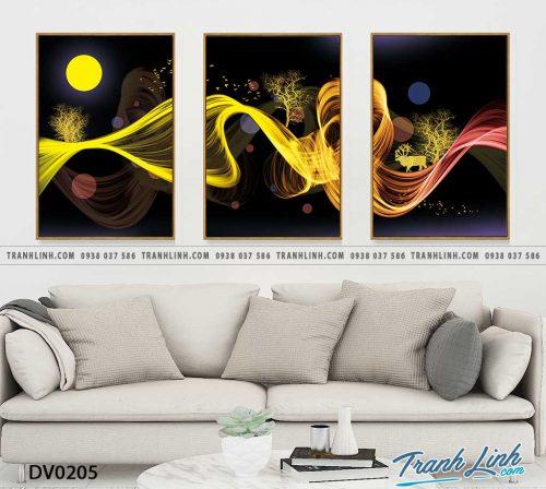 Tranh canvas treo tuong trang tri phong khach phong canh truu tuong 73