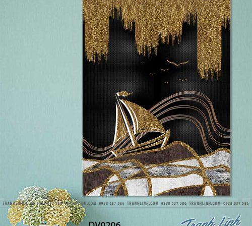 Tranh canvas treo tuong trang tri phong khach phong canh truu tuong 74