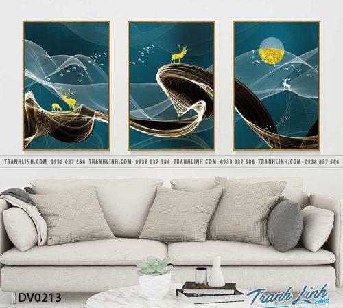 Tranh canvas treo tuong trang tri phong khach phong canh truu tuong 76