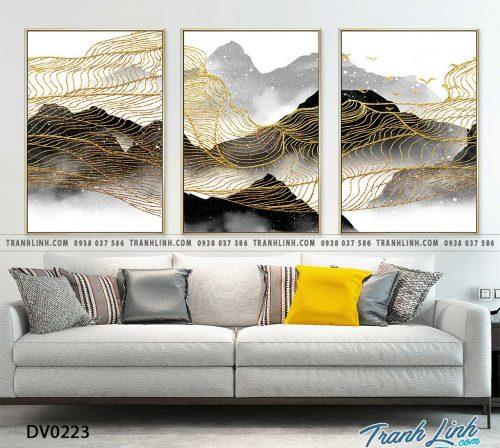 Tranh canvas treo tuong trang tri phong khach phong canh truu tuong 78