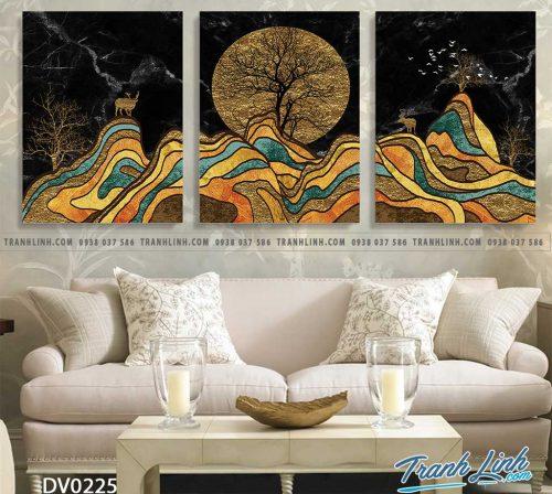 Tranh canvas treo tuong trang tri phong khach phong canh truu tuong 80