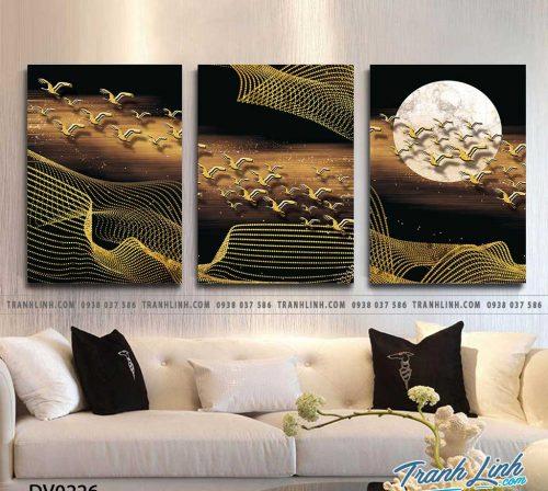 Tranh canvas treo tuong trang tri phong khach phong canh truu tuong 81