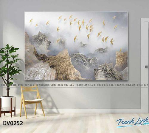Tranh canvas treo tuong trang tri phong khach phong canh truu tuong 86