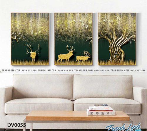 Tranh canvas treo tuong trang tri phong khach phong canh truu tuong 9