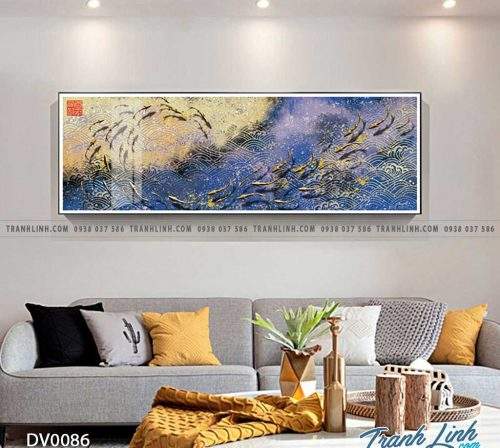 Tranh canvas treo tuong trang tri phong ngu phong canh truu tuong 24
